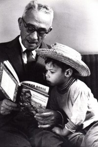 28. Grandpa reading to Martin