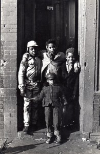 3. NY_3_Four kids in a doorway_Blake Avenue_1964
